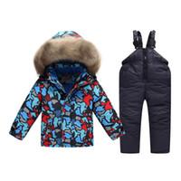 kinder ceket toptan satış-Rus kış Takım Elbise erkek Rüzgarlık çocuk kar erkekler için sıcak ceket ceket giymek kinder parkas çocuklar için kayak giysileri