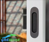gavetas de porta venda por atacado-Porta Embutida Stealth Handle Slotted Gaveta armário guarda-roupa maçanetas escondidas portas interiores invisíveis