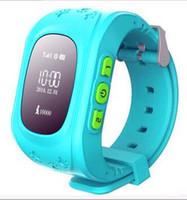 ingrosso guardare gsm sos-Q50 Smart Watch Kid orologio da polso GSM GPS Finder Locator Tracker SIM SOS Anti-Lost Smart Watch Bambini per iOS Android
