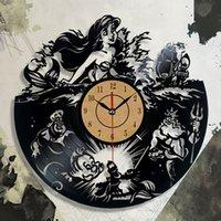 modelos de relógio feminino venda por atacado-Diy presente para design de moda das mulheres presentes relógio de vinil atacado presente de natal para as crianças 3d record vinyl wall clock duvar saat