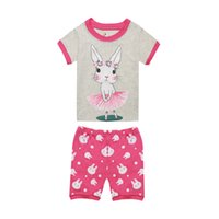 Wholesale summer pjs online - Girls Summer Clothing Children Lovely Rabbit Bunny Pajamas Sets Girls Unicorn Pijamas Kids Baby Toddler Sleepwear Nightwear PJS