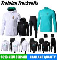 Wholesale mixed hoodies - 2018 REAL MADRID JACKET Training HOODIEs KITS outfits TRACKsuits Soccer Jersey Ronaldo ASENSIO Football SERGIO RAMOS MIX HOT
