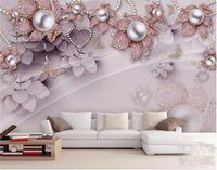 papel de parede país livre venda por atacado-Personalizado foto papel de parede 3D mural requintado jóias de luxo flores instalado TV pano de fundo papel de parede papel de parede