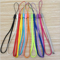 Wholesale phone cords lanyards resale online - Colorful Wrist Hand Short Phone Straps Nylon Chain Cords Hang Rope Lanyard for Cellphones U Disk Key Multifunctions