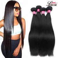 Wholesale cheap 28 inch weave - Brazilian Virgin Hair Straight 3 4 Bundles 100% Unprocessed straight Human Hair Extension Cheap peruvian malaysian indian Human Hair Weaving