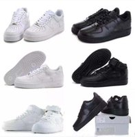 Wholesale Force Shoes - 2018 Newest forces Classical All White black low high cut men women Sports sneakers Casual Running Shoes Forceing one skate Shoes SIZE 36-45