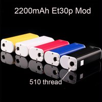 Wholesale Electronic Cigarette Charge Box - Hot ECT Mini TC box mod eT30P 30w 2200mah battery ecig with micro USB charging interface for electronic cigarette 510 thread Atomizer