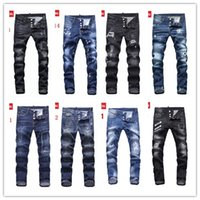 Wholesale Mens Skinny Denim Shorts - Men's Distressed Ripped Skinny Jeans Fashion Designer Mens Shorts Jeans Slim Motorcycle Moto Biker Causal Mens Denim Pants Hip Hop Men Jeans