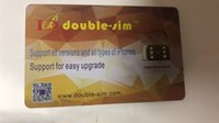 бесплатная доставка оптовых-Double-Sim Горячее надувательство 4G Превосходная разблокировка SIM-карты для iphone X 8 7 6S 6 5 IOS 12.x ONESIM GEVEY Turbo Sim