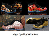 Wholesale polyester foams - 2018 High Quality Basketball Shoes Penny Hardaway Mens Sports Sneakers Foam One Eggplant Purple Mens Basket ball Shoe