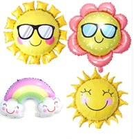 Hot selling Sunglasses Sunflower Foil Balloon Smile Face Rainbow Sun Flower Helium Balloons Birthday Party Wedding Decoration Air Balloons