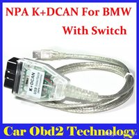 Wholesale cable scanners - 10PCS Lot For BMW INPA K+DCAN USB Interface OBD CAN Reader Diagnostic-tool scanner Switched INPA DIS SSS NCS Coding by DHL Free