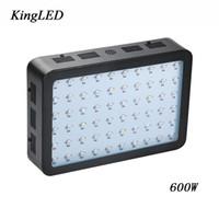 ingrosso molto chip-Doppio chip di colore nero 600W LED LED coltiva lo spettro completo della luce 410-730nm per piante da interno e frasi floreali molto alte.