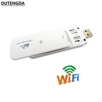 roteador móvel desbloqueado venda por atacado-Roteador de Bolso desbloqueado 4G LTE Móvel Router WiFi USB Hotspot Rede 3G 4G Router Wi-Fi Modem com Slot Para Cartão SIM
