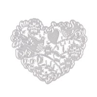 ingrosso uccello scrapbooking-Stencil di taglio di metallo dell'uccello di Love-Heart per DIY Scrapbooking album Cartelle di carta vestito decorativo cartella goffratura