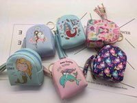 Discount little coins - Great little gifts Cute Mermaid bag coin purse practical tassel printing change coin bags data line storage package