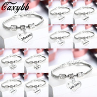 Wholesale dad bracelet resale online - Caxybb Dad Mom Sister Niece Bracelet Jewelry Bracelet of the Friend of Father and Mother Day Gift The Family Father mother