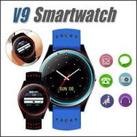 akıllı izleme senkronizasyon çağrıları toptan satış-V9 Bluetooth Akıllı Izle Smartwatch Dahili SIM Kart Yuvası Android Telefonlar Için Çağrı Sync İzle GPS Akıllı Saatler MQ20