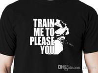Wholesale black restraint masks resale online - Train me to please you t shirt mask restraint cuff T shirt hood ball gag collarMen Streetwear T Shirt