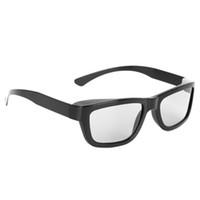 3d bardak siyah toptan satış-Dairesel Polarize Pasif 3D Stereo Gözlük 3D TV Gerçek D IMAX Sinemalar Için Siyah L15