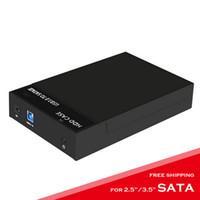 sdd sata toptan satış-Eunaimee USB 3.0 Sabit Disk Disk Harici Muhafaza Dock 2.5 / 3.5 inç SATA HDD SSD UASP ücretsiz kargo