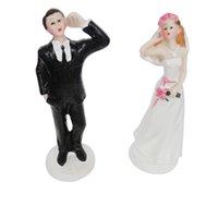 ingrosso chiamata in tavola-FEIS hotsale sposa e sposo telefonando a tavola articoli torta rame amore chiamata san valentino regalo bomboniera