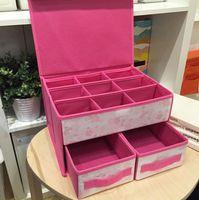 ingrosso stelle twin-2018 nuova moda Merlot twin stars tessuto biancheria intima scatola di immagazzinaggio reggiseno cassetto biancheria intima scatola di immagazzinaggio pieghevole sacchetto di immagazzinaggio