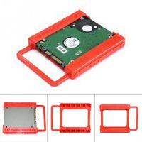 sert toptan satış-2.5 ila 3.5 Inç SSD HDD Sabit Disk Montaj Adaptörü Braketi Dock Tutucu Plastik Kırmızı Dizüstü PC Için SSD Tutucu