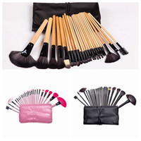 Wholesale top makeup sets resale online - 24pcs set Professional Makeup Brushes Set Face Eyes Soft Blending Full Function Makeup Artist Brush Beauty Tools Kit Top Quality