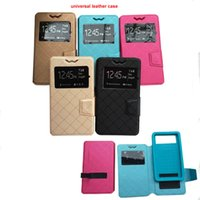 Wholesale elephone phone online - Hot Universal Smart Phone Case for Elephone Leather quot Stand Cover For Elephone P8000 Flip Case Men and Women Phone Cases
