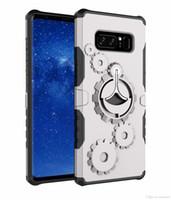 пластиковый телефон подставки оптовых-Gear броня Kickstand телефон обложка для Samsung Galaxy Note 8 S7 8 edge plus TPU пластиковые обложки чехлы с Телефон Arm Band OPP мешок