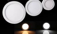 поверхностное крепление ic оптовых-Поверхность установила Сид индикаторной панели Сид 2835smd 6 Вт 12 Вт 18 Вт 24 Вт площадь ультратонкий потолочный свет ac110v 220В светодиодный светильник внешний драйвер смарт-IC