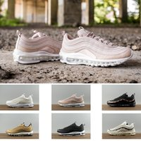 Wholesale Sports Wear Women Winter - High quality pink Undefeated X 97s Ultra silver bullet black men and women casual sports wear cushion running shoes 5.5-12