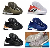 Wholesale Genuine Leather Boots For Cheap - 2018 original soccer cleats Predator Tango 18+ TR boots cheap ankle high soccer shoes for men authentic football boots mens new