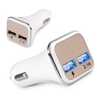 Wholesale Galaxy Note Charging Port - Hot New Dual USB Ports Adaptive QC2.0 LED Quick Charge Super Fast Car Charger For Samsung Galaxy Note 5 S6 S7 Edge + CAB259