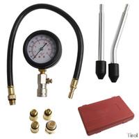 medidores de vacío al por mayor-1PC Comprobadores de vacío de compresión del coche portátil cilindro del motor medidor de presión Probador de compresión Kit de herramientas de diagnóstico