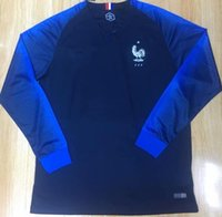 Wholesale french long - Top Quality french long sleeve 2018 World Cup Soccer Jersey Men Francia Maillot de foot GRIEZMANN #7 POGBA #6 MBAPPE football Shirts