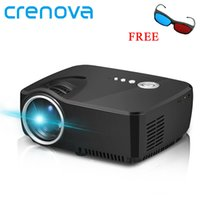 Wholesale hd led laptop - Crenova Mini Portable LED Projector Support FULL HD P HDMI USB AV SD VGA for Home Theater PC Laptop Video Games TV Beamer
