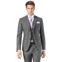 piece trajes grises ligeros de los hombres al por mayor-Hecho a medida  superventas 2016 f939f3f5d0c