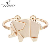 china comprar presente venda por atacado-Todorova Adjustable Origami Elephant Rings For Women Animal Rings Jewelry Buy Bulk China Christmas Gift Ideas Hip Hop Ring
