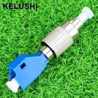 adaptateur fc achat en gros de-Adaptateur fibre optique optique hybride KELUSHI mode unique 9/125um FC mâle vers femelle femelle