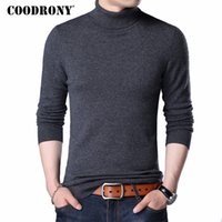 Wholesale Merino Wool Cashmere - COODRONY Merino Wool Sweater Men Casual Classic Turtleneck Pull Homme 2017 Winter Soft Warm Cashmere Men's Pullover Sweaters 310