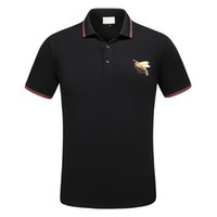 Wholesale Brand Designer Tshirts - New Fashion Designer Polos Men Brand Poloshirts Short Sleeve Bee Tiger Snake Animal Embroidery Classic Luxury Tshirts High Quality