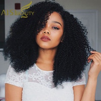 Wholesale cheap white long wig - Aisi Beauty Free Shipping Long Afro Kinky Curly Wigs For Black Women Heat Resistant Cheap Price Wigs