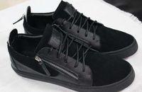 Wholesale Italian Black Leather Sneakers Men - Plus sizes 38-44 Men casual shoes fashion sneakers High quality Italy famous italian designer brands luxury Genuine Leather scarpe da