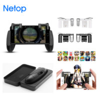 Wholesale Retail Sale Netop Handgrip with Metal Mobile Trigger For Survivor Royale Joystick For PUBG BattleGround Gamepad For Knives out Cross Fire