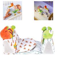 Wholesale side sleep pillows resale online - animals shape baby pillow Newborn Anti Roll Pillow Sleep Positioner Infant Prevent Flat Head Cushion new fashion
