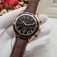 marka lüks kadın saatleri toptan satış-Tüm Alt Kadranları Çalışma Erkek kadın Paslanmaz Kuvars Saatı Lüks İzle Erkekler için Üst Marka relogies relojes