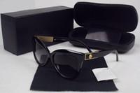 klasik tarz dekor toptan satış-Lüks Güneş Gözlüğü Kedi Göz Şekli Moda Vintage Yaz Stil Kadın Marka Tasarımcısı Metal Gül Çiçek Dekor Açık Gözlük Kutusu Kasa Ile