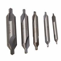 bits 4mm venda por atacado-5 pcs HSS Combinado Brocas Center Bits de 60 Graus Broca Escareador Set 1.5mm 2.0mm 2.5mm 3mm 4mm Para Ferramentas De Poder